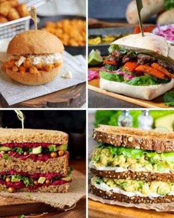 vegan sandwich recipes, chickpea sandwich, peruvian sandwich, beet and hummus, avocado chickpea