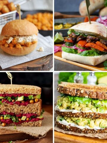 vegan sandwich recipes, chickpea sandwich, peruvian sandwich, beet and hummus, avocado chickpea