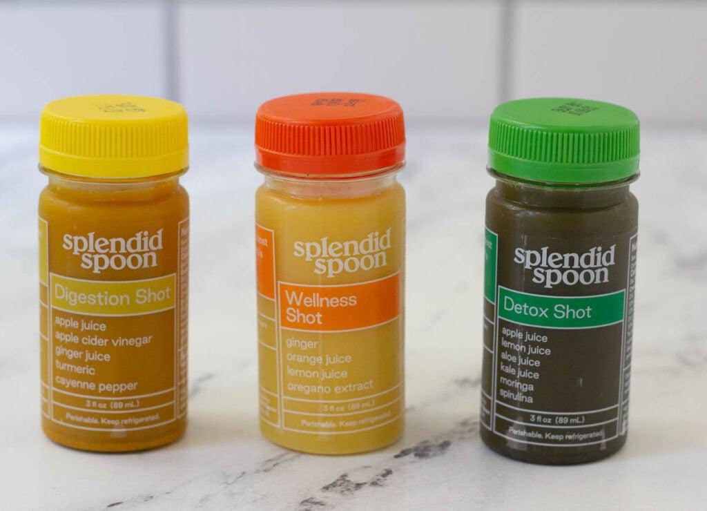 Splendid Spoon Wellness Shots: Digestion Shot, Wellness Shot, and Detox Shot