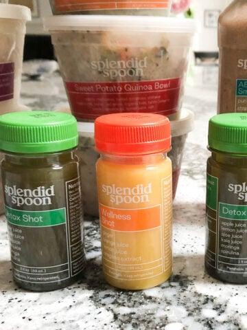 splendid spoon wellness shots, grain bowls, and smoothie